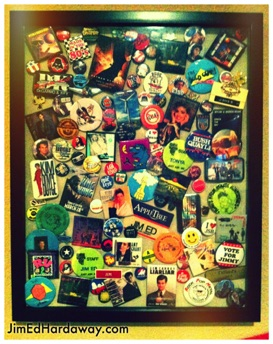 Button Collection Shadow Box. Yes, I saved all my buttons since I was a kid. Rather than them hiding in a show box in storage, I created this box to display them in our man cave. It's fun to look at every once in a while and reminisce.