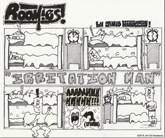 """Roomies"" (1989) *Artist Note: This is where it all began. The comic is so rough and primitive but really illustrates the roots of my cartooning and the progression of my drawing abilities."